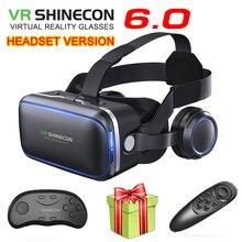 VR Shinecon 6.1 VR نظارات الواقع الافتراضي ثلاثية الأبعاد جوجل كرتون VR صندوق سماعة نظارات خوذة سماعة للهواتف الذكية