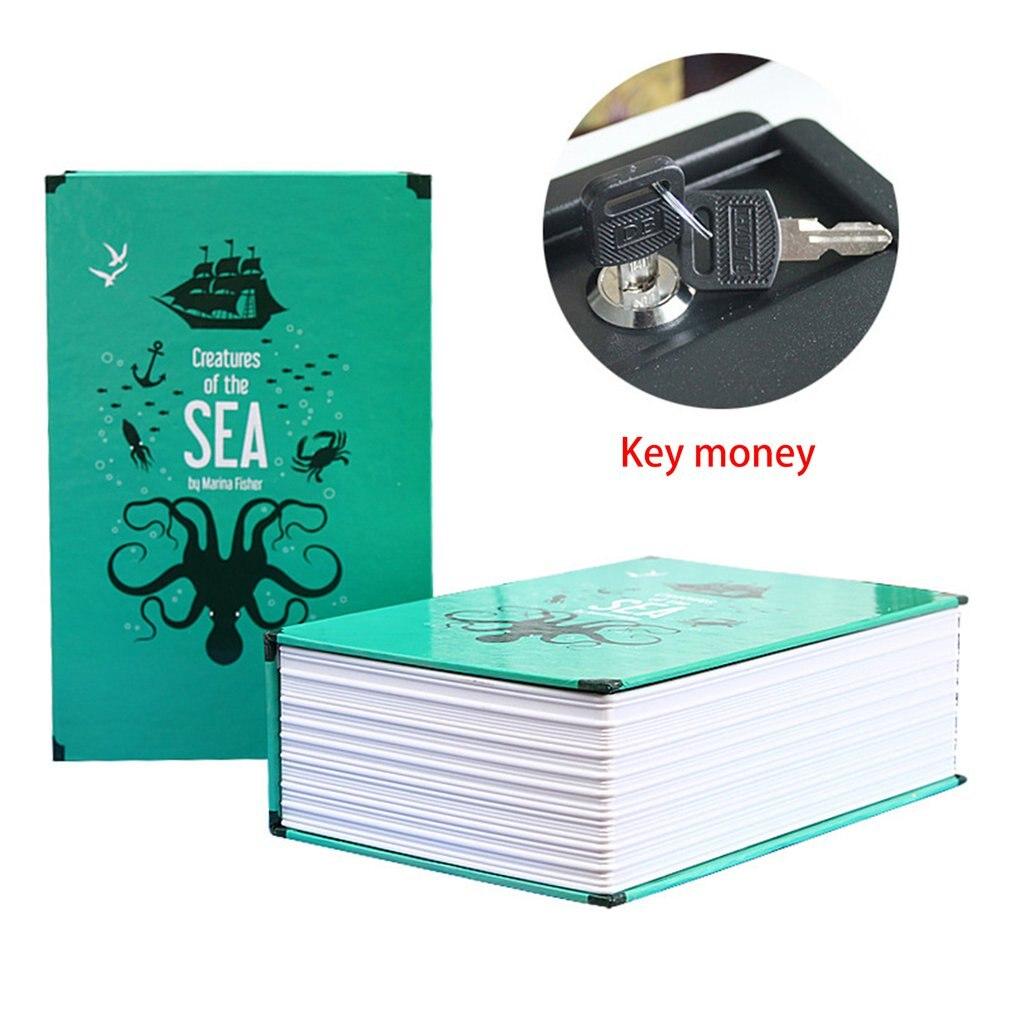 Creative Safe Deposit Box Mini Home Storage Box Safe Cabinet Craft Book Password Key Box Insurance Box
