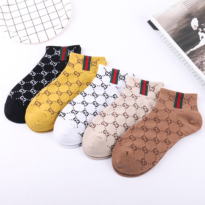 Image 3 - 5 Pairs 2019 New Autumn Winter Cute Letter Women Socks Harajuku  Color Female Cotton Socks Meias Chausette Calcetines-in Socks from Underwear & Sleepwears