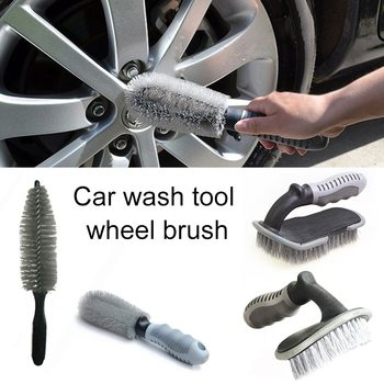 Car Wheel Cleaner Brush Detailing Brush Car Wheel Wash Brush Wheel Rims Tire Washing Brush Auto Scrub Brush Car Wash Tools image