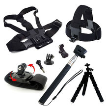 Accessories Set for Gopro hero 7 6 5 4 3 Session Kit Tripod Monopod Mount for Go pro for Xiaomi Yi 4K SJCAM SJ4000 EKEN H9 H9R(China)