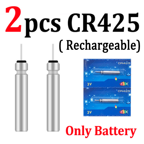 neversaynever Pin Shape Battery Fits Fishing Lure Fishing Float Battery CR425 Rechargeable Battery USB Charger for Outdoors Fishing
