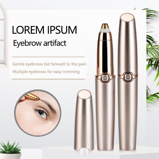 Electric Eyebrow Trimmer Makeup Painless Eye Brow Epilator Mini Shaver Razors Portable Facial Hair Remover Women depilator 1