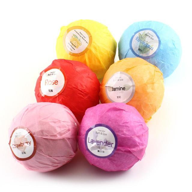 6pcs/Set Bath Bomb Balls Classic Colors and Simple Durable Design Moisturizing Exfoliating Oil-Control Body Salt Bubble 3
