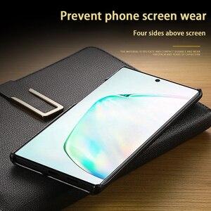 Image 5 - Bao Da Chính Hãng Dành Cho Samsung A70 A40 S9 S10 Note 10 S6 S7 Edge Plus Da Bò Ốp Lưng Điện Thoại S20ultra Ốp Lưng Nửa gói Mẫu Bao