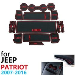Anti-Slip Rubber Cup Kussen Deur Groef Mat voor Jeep Patriot Liberty 2007 ~ 2016 2008 2010 2012 2015 accessoires mat voor telefoon