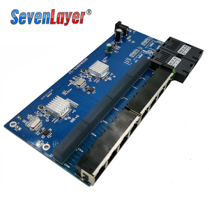 Image 5 - 10/100/1000M Gigabit Ethernet Fiber Optical Media Converter PCBA 8 RJ45 UTPและ2 SCพอร์ตไฟเบอร์บอร์ดPCB 1PCS