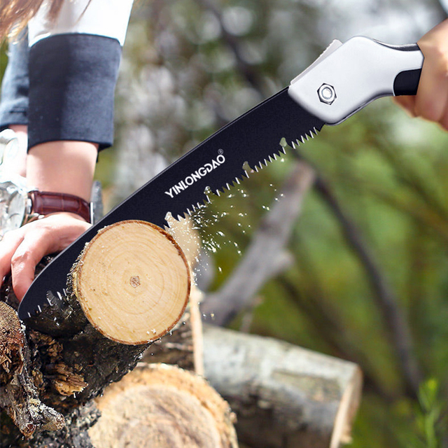 AI-ROAD Hand Folding Saw Woodworking Cutting Tool Collapsible Sharp Camping Garden Prunch Saw Trees Chopper Dry Wood Knife 5