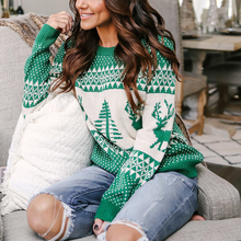 Hot Sale Pattern Reindeer Christmas Sweater Women Sex Pullover Tree Knitted Autumn Winter 2019 Deer Female