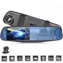 24h gravação hd 1080p carro dvrs gravador de vídeo traço cam completo 4 Polegada espelho cam câmera do carro dvr gravação de loop gravadores de vídeo