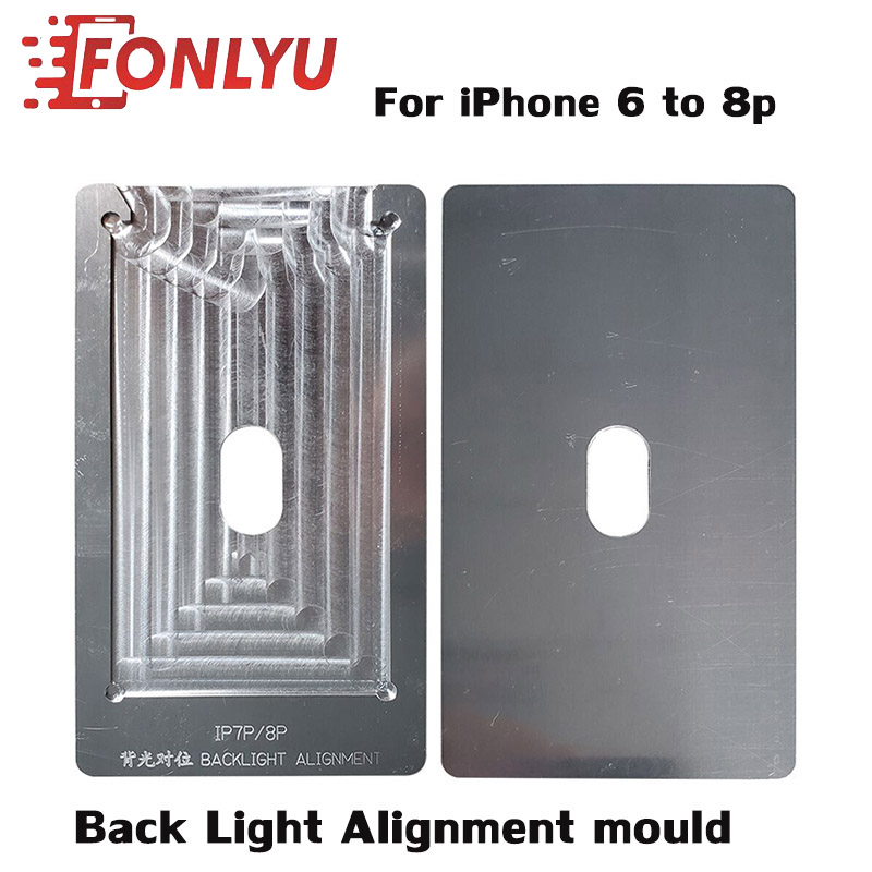 New <font><b>Back</b></font> Light Alignment mould for aligning <font><b>iphone</b></font> backlight for <font><b>iphone</b></font> 6g 6s 6sp 7 7p <font><b>8</b></font> 8p lcd Touch Screen <font><b>Glass</b></font> <font><b>Repair</b></font> Tool image
