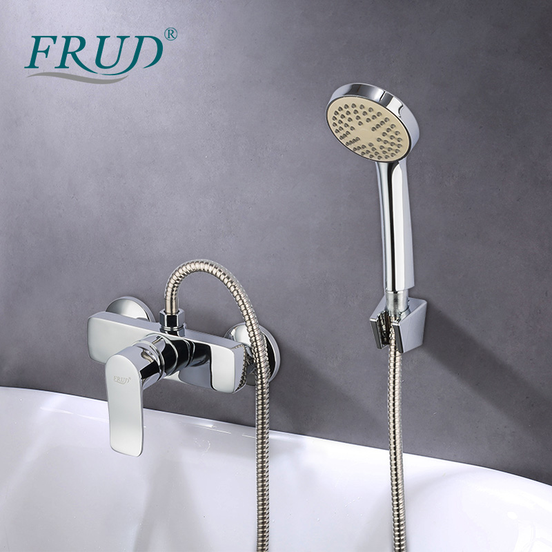 FRUD bathroom shower faucet bathtub Wall Mount Waterfall Hot Cold Water Mixer Tap Bath Shower Faucet Tap Robinet Baignoire