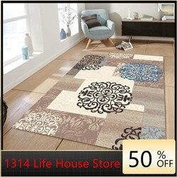 Nordique moderne géométrique tapis salon Table basse Simple géométrique tapis tapis de sol tapis pour chambre à coucher grand tapis de fourrure