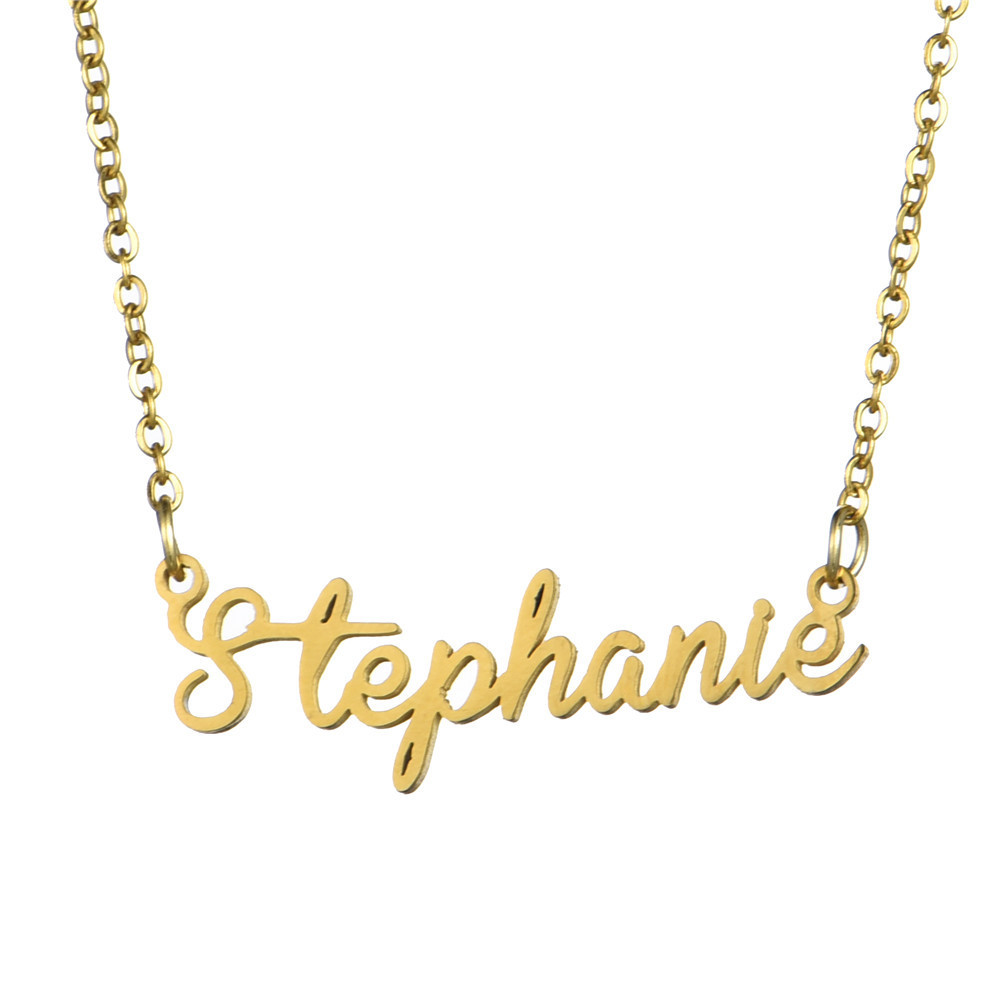 arbitrary name custom necklace pendant stainless steel Alison font charming personality 14