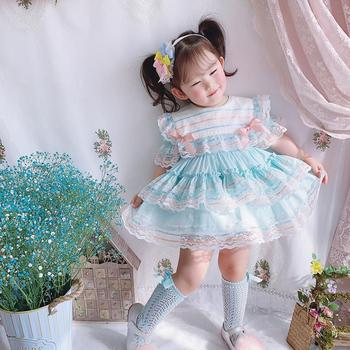 Baby Girl Clothes Summer Lace Sleeveless Vintage Spanish lolita Princess Ball Gown Dress for Girl Birthday Easter Dress Y2968