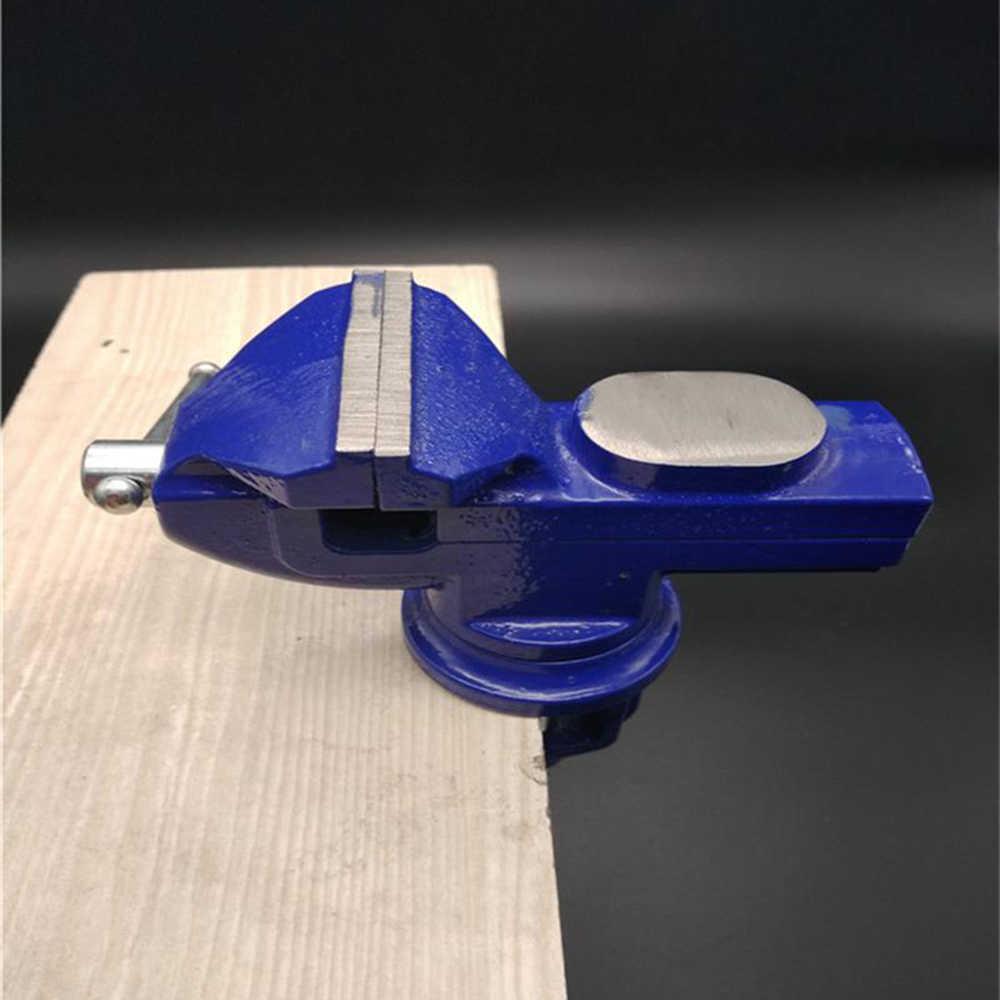 אור החובה מכונאי מהדק-על שולחן מלחציים 360 תואר מסתובב בסיס יצוק ברזל שולחן למעלה מהדק לחץ סגן עם סדן