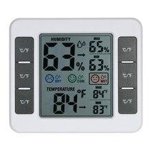 Thermomètre et hygromètre d'intérieur numérique LCD, jauge de température et d'humidité, Thermo hygromètre avec affichage de la valeur Max Min