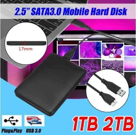 Внешний жесткий диск HD 1 ТБ 2 ТБ высокой емкости SATA USB 3,0 оригинальное устройство для хранения для компьютера ноутбука