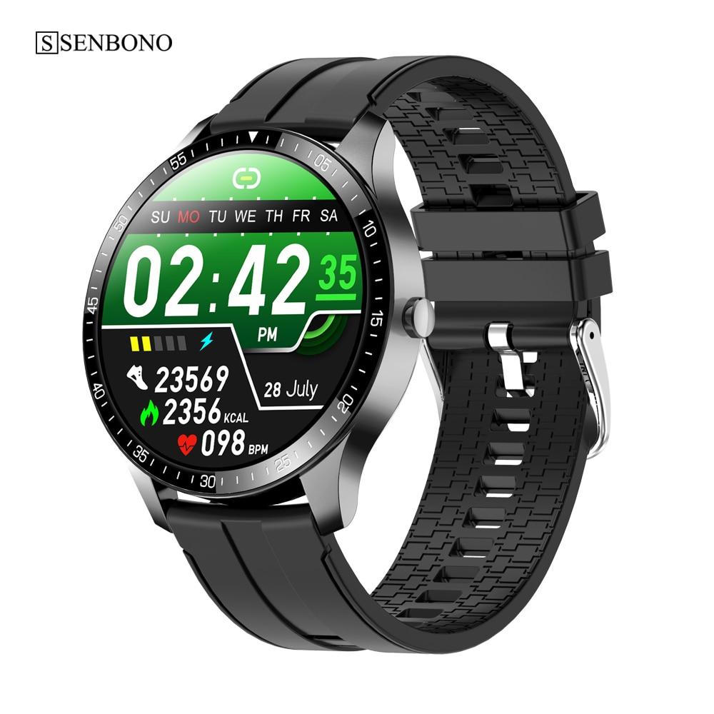 SENBONO S80 Men Smart Watch Fitness Tracker Heart Rate Sleep Monitor Multi-sport IP67 Waterproof 2020 Smartwatch for IOS Android