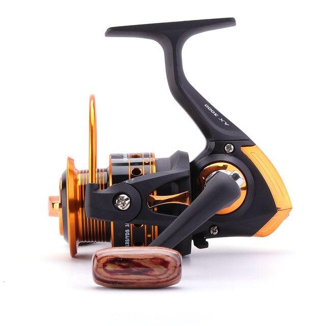 Spinning Fishing Reel 12BB + 1 Bearing Balls 500-9000 Series Metal Coil Spinning Reel Boat Rock Fishing Wheel 6