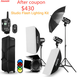 Strobe Studio Flash Light Kit 900W Photographic Lighting Strobe,Barn Door+Light Stand+Trigger+Umbrella+SoftBox CD50 T03 N1