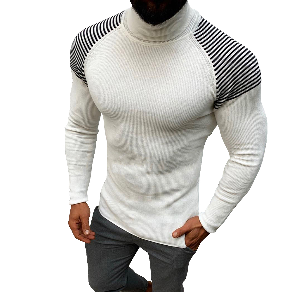 SHUJIN 2019 Autumn Winter Men Sweater Men's Turtleneck Solid Color Casual Sweater Male Slim Fit Brand Knitted Pulloverse Clothes