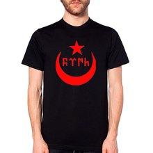 Triditya ht0302# Лунные звезды и турецкий текст футболка мужская
