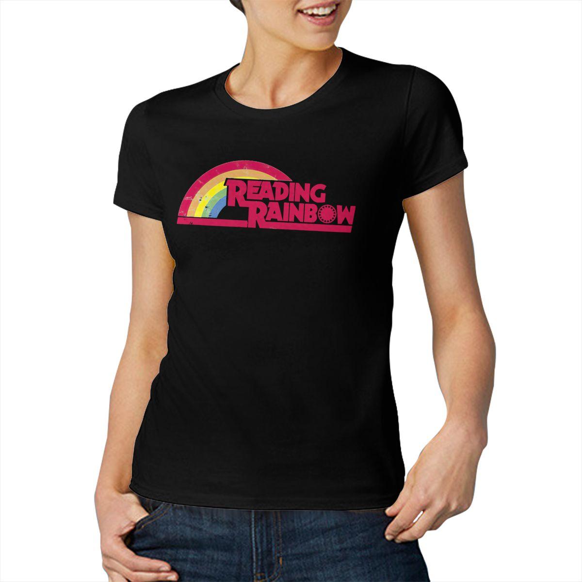 Модная хлопковая футболка для чтения радуги, крутая и забавная Повседневная футболка с коротким рукавом
