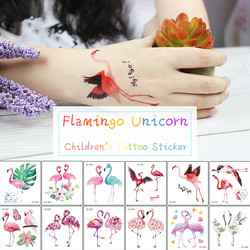 Flamingo Children's Tattoo Sticker Unicorn Sticker Temporary Tattoo Art Waterproof Hand Arm for Child Boy Girl 75*80mm