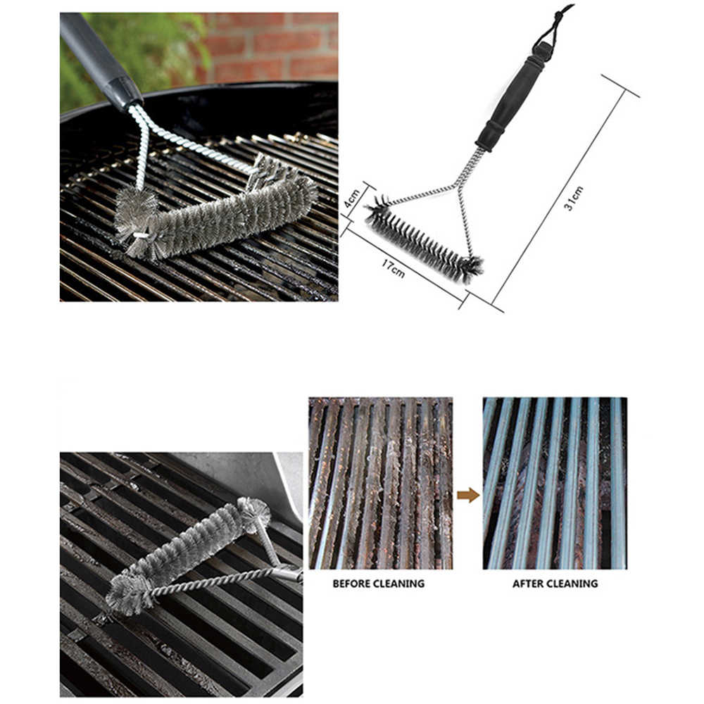 Kitchen Accessories BBQ Grill Kit Cleaning Brush Stainless Steel Cooking Tools