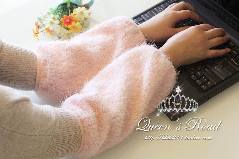 Cuff Women's Autumn And Winter Long Adult Plush Cuff Down Jacket Antifouling Cuff Korean-style New Style Beautiful Furry Cuff