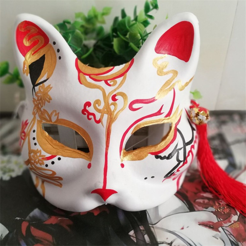Japanese Private Fox Mask Hand painted Grandmaster of Demonic Cultivation  Wei Wuxian Fox Mask Halloween Cosplay Photo Props|Boys Costume Accessories|  - AliExpress