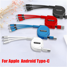 Travel Universal charging cable 3 IN 1 USB Type C USB Cable For iPhone 8 X 7 6 for Samsung USB Fast Charging Cables for huawei universal deciated power current test cable charging activation board plate for iphone samsung charging usb cable jig circuit