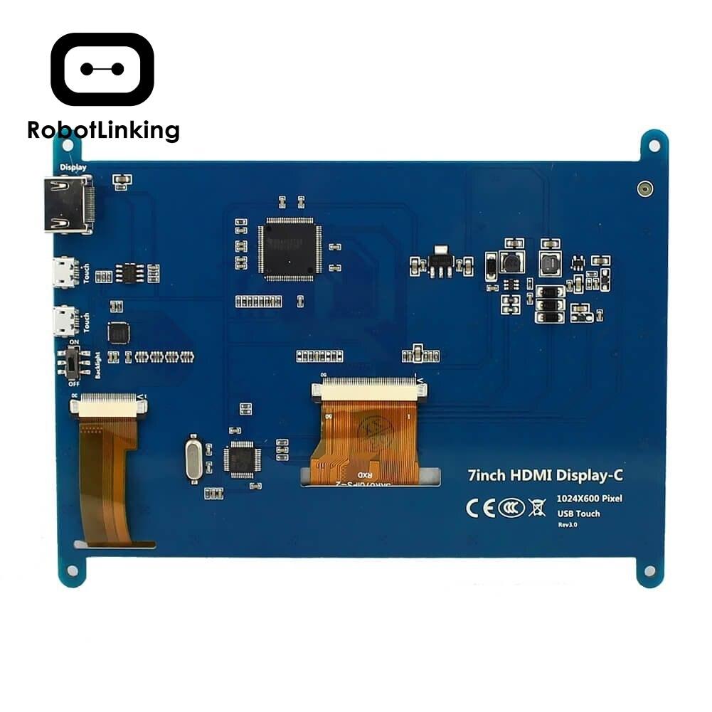 HDMI Display del Monitor 7 Pollici 1024X600 HD TFT LCD con Touch Screen per Raspberry Pi B +/ 2B Raspberry Pi 3 - 2