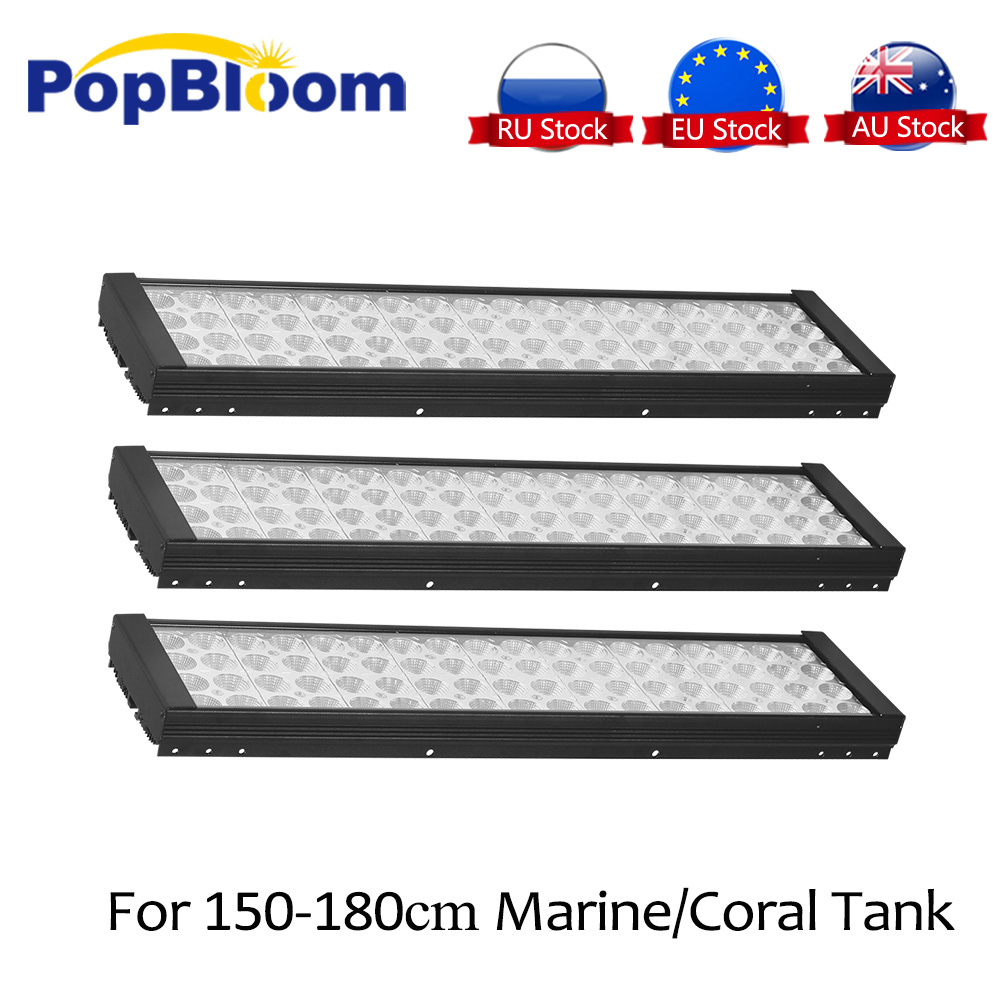Lampe UV d'aquarium de lumière LED marin de PopBloom pour la lumière de réservoir de LED pour aquarium spectre complet lever du soleil coucher du soleil intelligent dimmable MJ4BP3