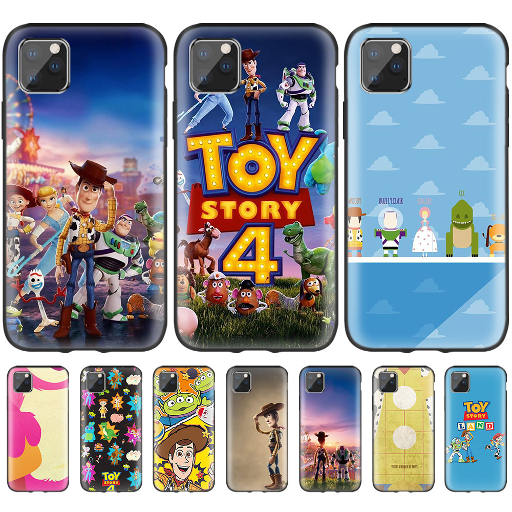 <font><b>Toy</b></font> <font><b>Story</b></font> Black Case for Apple <font><b>iPhone</b></font> 11 Pro X XS Max <font><b>XR</b></font> 10 7 8 6 6S Plus 5S 5 SE 7S Silicone Carcasa Phone <font><b>Coque</b></font> image