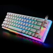 Womier 66 anahtar özel mekanik klavye seti 65% 66 PCB durumda çalışırken değiştirilebilir anahtarı desteği aydınlatma efektleri RGB anahtarı led