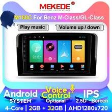 Hd 2DIN 1024X600 Android 10.0 Car Dvd speler Voor Mercedes Benz Gl Ml Klasse W164 ML350 ML500 X164 GL320 Gps Stereo Radio