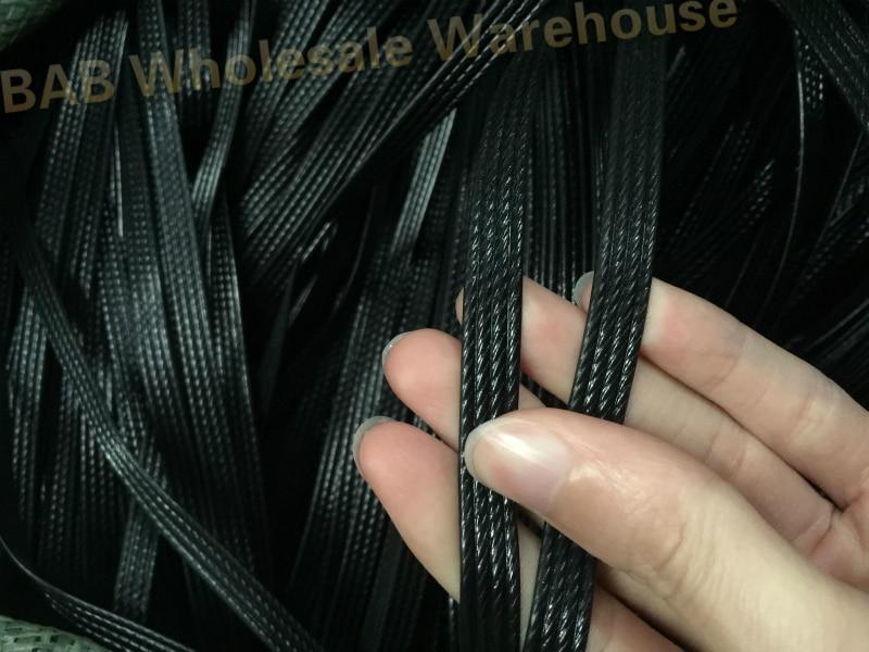 Black Four Lines Synthetic Plastic Rattan Weaving Material Plastic Knit Repair Chair Table Plastic PE Rattan