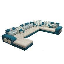 Бархат hanf льняной конопляной ткани секционные диваны гостиной диван набор мебели Алон диван puff asiento muebles de sala canape U