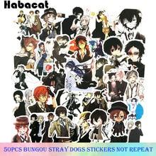 50Pcs Set Bungou Stray Dogs Anime Graffiti Stickers Gifts font b Toys b font for Children