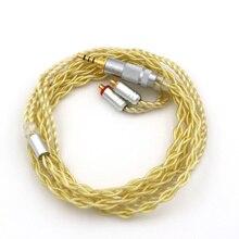 MMCX/0.78mm 2Pin konektörü 3.5mm 2.5mm dengeli yükseltilmiş kulaklık kablosu son derece yumuşak 7N OCC saf gümüş + altın kaplama IEMs