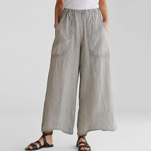 купить Hot Sale Spring Womens Pocket Wide Leg Pants Ladies Autumn Casual High Waist Baggy Pants Femme Solid Plus Size Trousers 2019 дешево