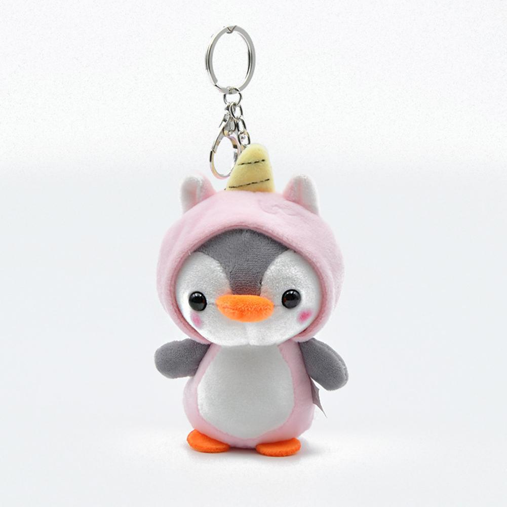 1Pcs Plush Keychain Cute Penguin Bee Animal Plush Doll Pendant Keychain Ring Key Holder Bag Decor Kids Playmate Valentine Gifts