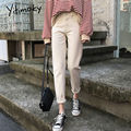 Джинсы в винтажном стиле для женщин с высокой талией размера плюс черный, белый цвет бежевый хлопковые джинсы-бойфренды для женщин потертые...