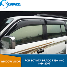 цена на Car door visor For TOYOTA PRADO FJ90 3400 1996-2002 Window deflectors For PRADO FJ90  1996 1997 1998 1999 2000 2001 2002 SUNZ