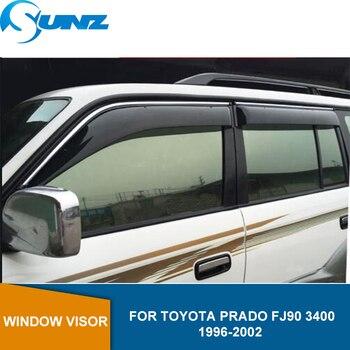 Side Window Deflectors For Toyota Prado FJ90 3400 1996 1997 1998 1999 2000 2001 2002 Car Wind Shields SUNZ