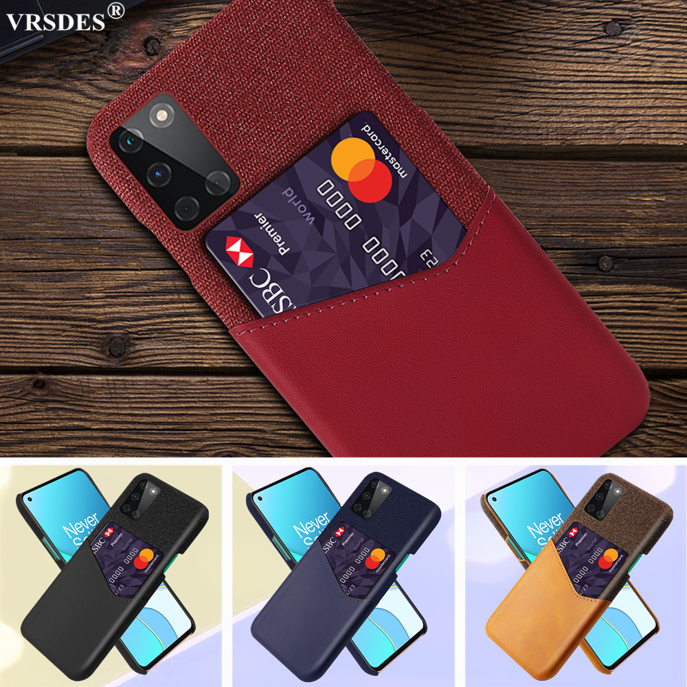 Business Case For OnePlus 8T 1+ 8 7T 7 Pro 6T 6 5T Nord Retro Slim Card Slot Cover Pocket Case For OnePlus Nord 8T 7 8 Pro 6 5
