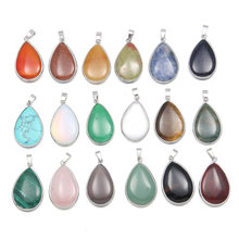 New Natural Stone Charms Pendants Rose Quartz Craft for Women Men Jewelry Necklace