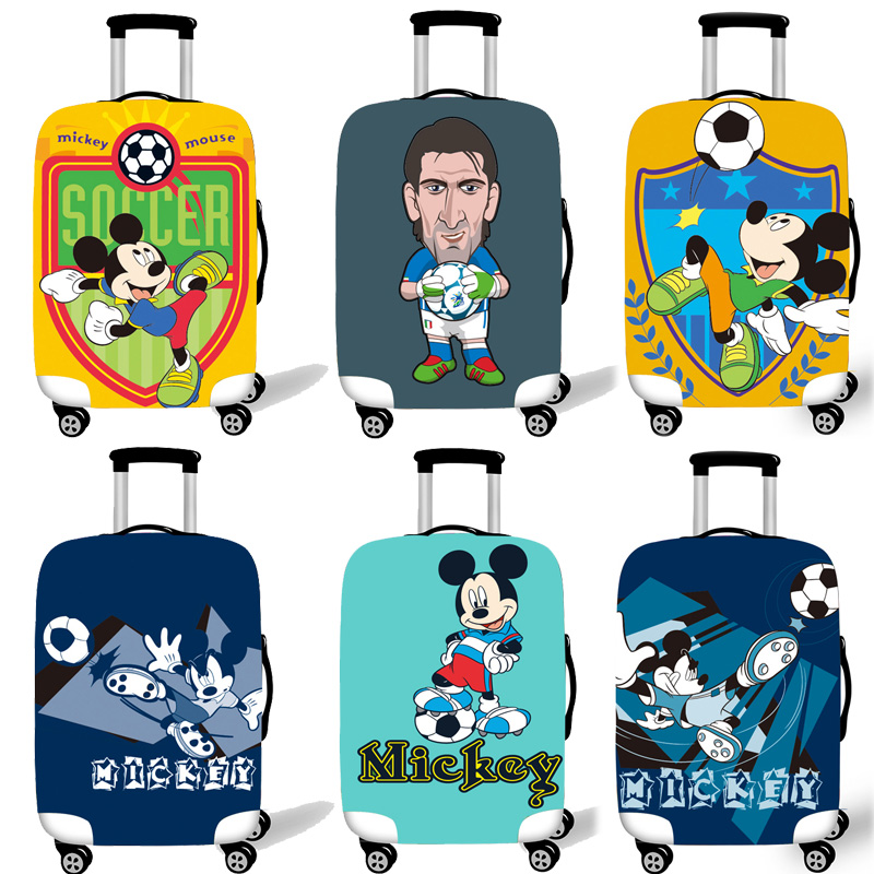 Elastic Luggage Protective Cover Case For Suitcase Protective Cover Trolley Cases Covers Xl Travel Accessories Mickey Football V